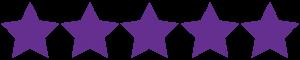 5 purple stars